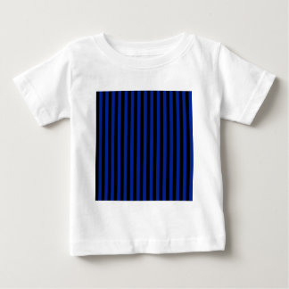 Thin Stripes - Black and Imperial Blue Baby T-Shirt