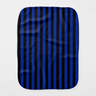 Thin Stripes - Black and Imperial Blue Burp Cloths