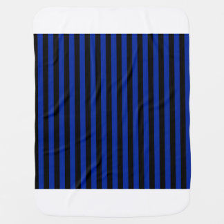 Thin Stripes - Black and Imperial Blue Receiving Blankets