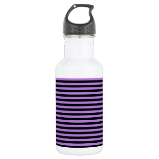 Thin Stripes - Black and Lavender 532 Ml Water Bottle