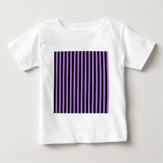 Thin Stripes - Black and Lavender Baby T-Shirt