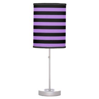 Thin Stripes - Black and Lavender Desk Lamp