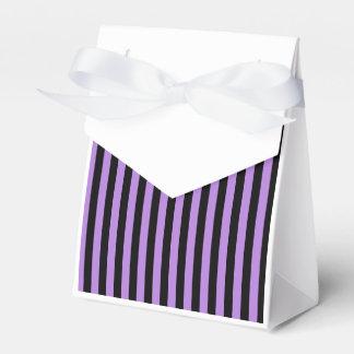 Thin Stripes - Black and Lavender Favor Box