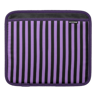 Thin Stripes - Black and Lavender iPad Sleeve