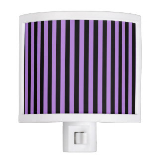 Thin Stripes - Black and Lavender Night Light
