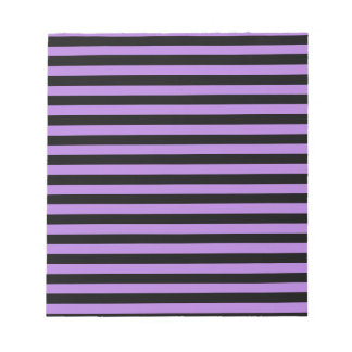 Thin Stripes - Black and Lavender Notepad