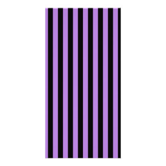 Thin Stripes - Black and Lavender Photo Card