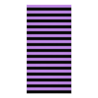 Thin Stripes - Black and Lavender Photo Cards