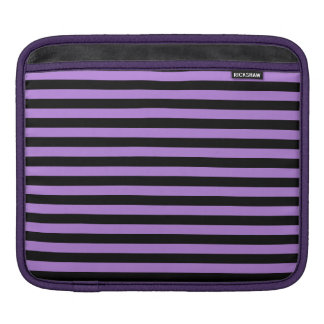 Thin Stripes - Black and Lavender Sleeve For iPads