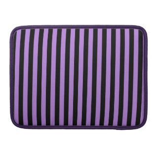 Thin Stripes - Black and Lavender Sleeve For MacBook Pro