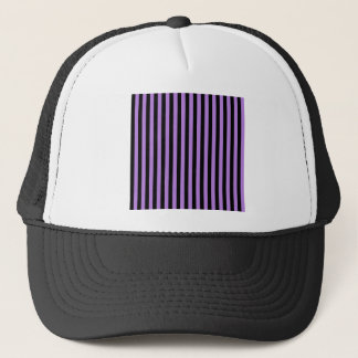 Thin Stripes - Black and Lavender Trucker Hat