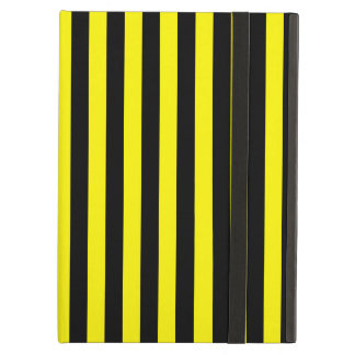 Thin Stripes - Black and Lemon Case For iPad Air