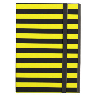 Thin Stripes - Black and Lemon iPad Air Case