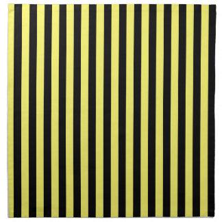 Thin Stripes - Black and Lemon Napkin
