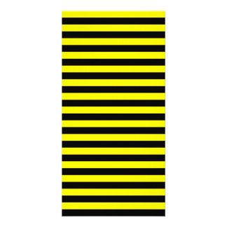 Thin Stripes - Black and Lemon Picture Card