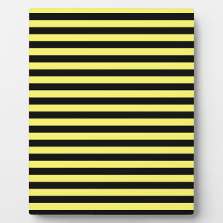 Thin Stripes - Black and Lemon Plaque