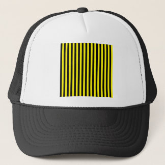 Thin Stripes - Black and Lemon Trucker Hat
