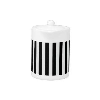 Thin Stripes - Black and Light Gray
