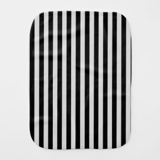 Thin Stripes - Black and Light Gray Burp Cloth