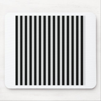Thin Stripes - Black and Light Gray Mouse Pad
