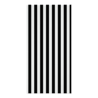 Thin Stripes - Black and Light Gray Picture Card