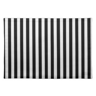 Thin Stripes - Black and Light Gray Placemat