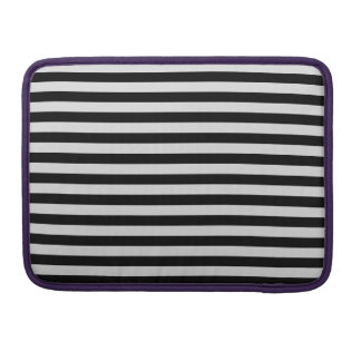 Thin Stripes - Black and Light Gray Sleeves For MacBooks