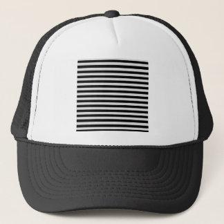 Thin Stripes - Black and Light Gray Trucker Hat