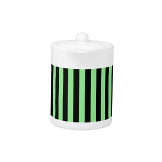 Thin Stripes - Black and Light Green