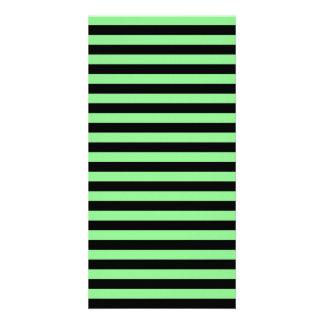 Thin Stripes - Black and Light Green Photo Card