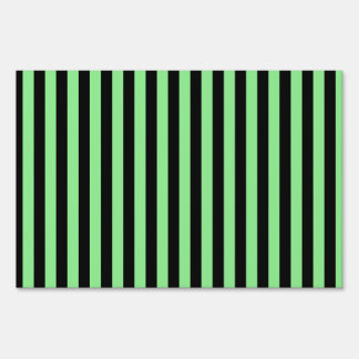 Thin Stripes - Black and Light Green Sign