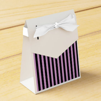 Thin Stripes - Black and Light Medium Orchid Favor Box