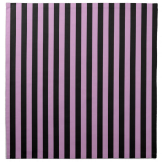 Thin Stripes - Black and Light Medium Orchid Napkin