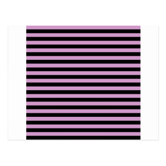 Thin Stripes - Black and Light Medium Orchid Postcard