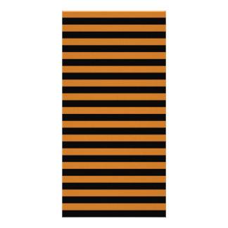 Thin Stripes - Black and Ochre Photo Greeting Card