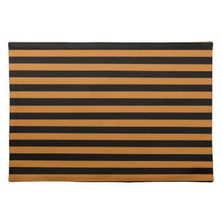 Thin Stripes - Black and Ochre Placemat