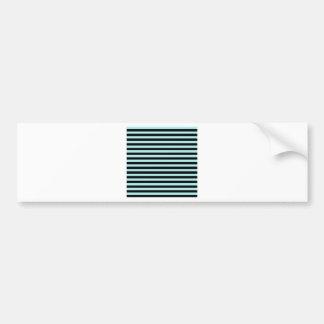 Thin Stripes - Black and Pale Blue Bumper Sticker