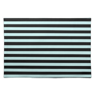 Thin Stripes - Black and Pale Blue Placemat