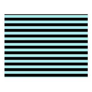 Thin Stripes - Black and Pale Blue Postcard