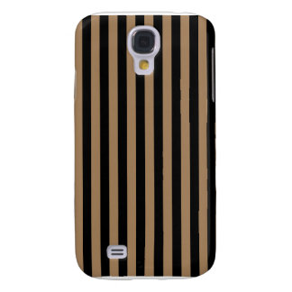 Thin Stripes - Black and Pale Brown