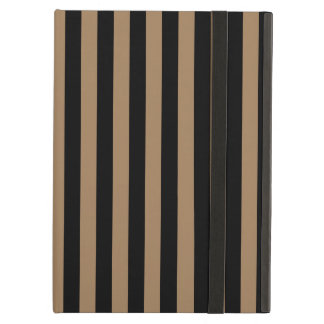 Thin Stripes - Black and Pale Brown iPad Air Case