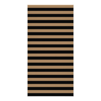 Thin Stripes - Black and Pale Brown Picture Card