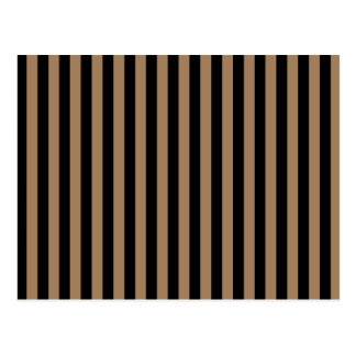 Thin Stripes - Black and Pale Brown Postcard