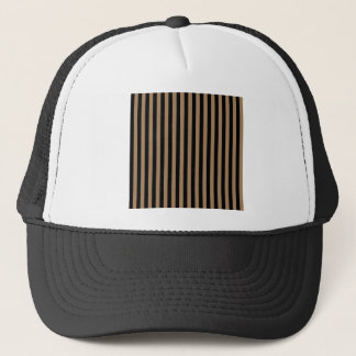 Thin Stripes - Black and Pale Brown Trucker Hat