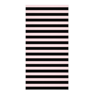 Thin Stripes - Black and Pale Pink Photo Card Template