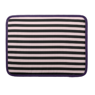 Thin Stripes - Black and Pale Pink Sleeve For MacBook Pro