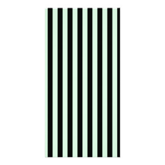 Thin Stripes - Black and Pastel Green Card