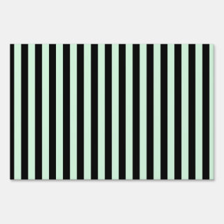 Thin Stripes - Black and Pastel Green Sign