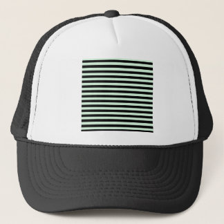 Thin Stripes - Black and Pastel Green Trucker Hat