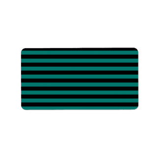 Thin Stripes - Black and Pine Green